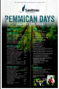 Pemmican Days Poster 2016