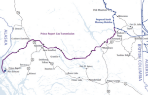 The route of TransCanada's Prince Rupert Gas Transmission line, which would begin in Northeast B.C.   Photograph By Jonny Wakefield