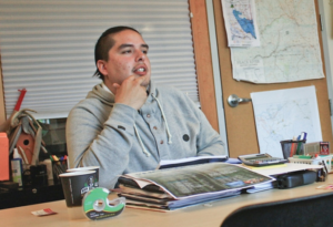 Saulteau First Nations Chief Nathan Parenteau says his nation opposes the current route of the Prince Rupert Gas Transmission line, the pipeline that would supply gas for Pacific NorthWest LNG.   Photograph By File
