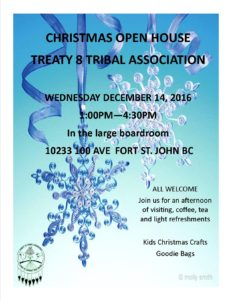 Christmas Open House @ Treaty 8 Tribal Association | Fort Saint John | British Columbia | Canada