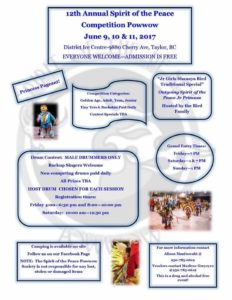 12th Annual Spirit of The Peace Powwow @ District of Taylor ICe Centre | Taylor | British Columbia | Canada