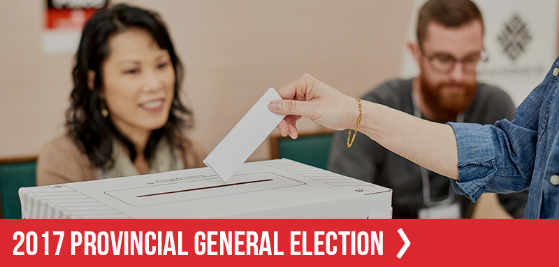 WHO, WHAT, WHEN, WHERE, HOW – 2017 BC PROVINCIAL GENERAL ELECTION VOTER INFORMATION