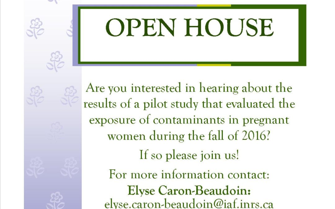 OPEN HOUSE – Contaminants Study in Pregnant Women