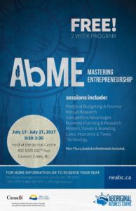 AbME - FREE Business Course @ be.real Centre | Dawson Creek | British Columbia | Canada