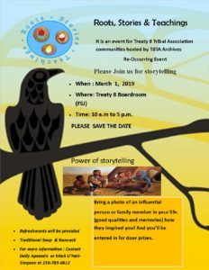 Gathering/Storytelling Workshop @ Treaty 8 Tribal Association