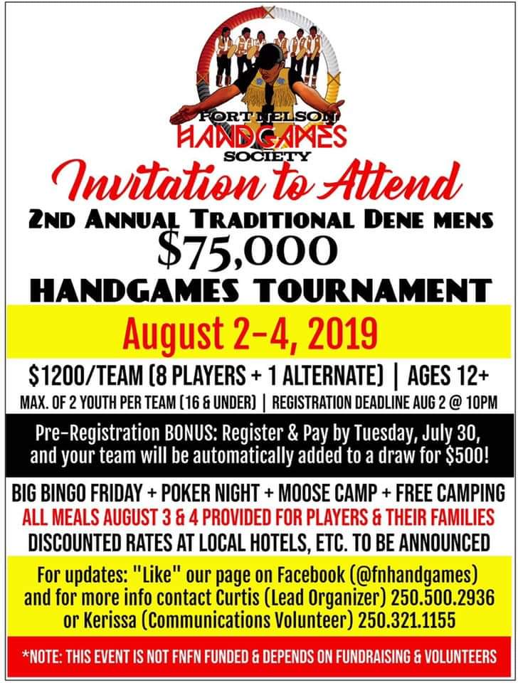 2ND ANNUAL Traditional Dene Men's Handgames Tournament @ Fort Nelson First Nation