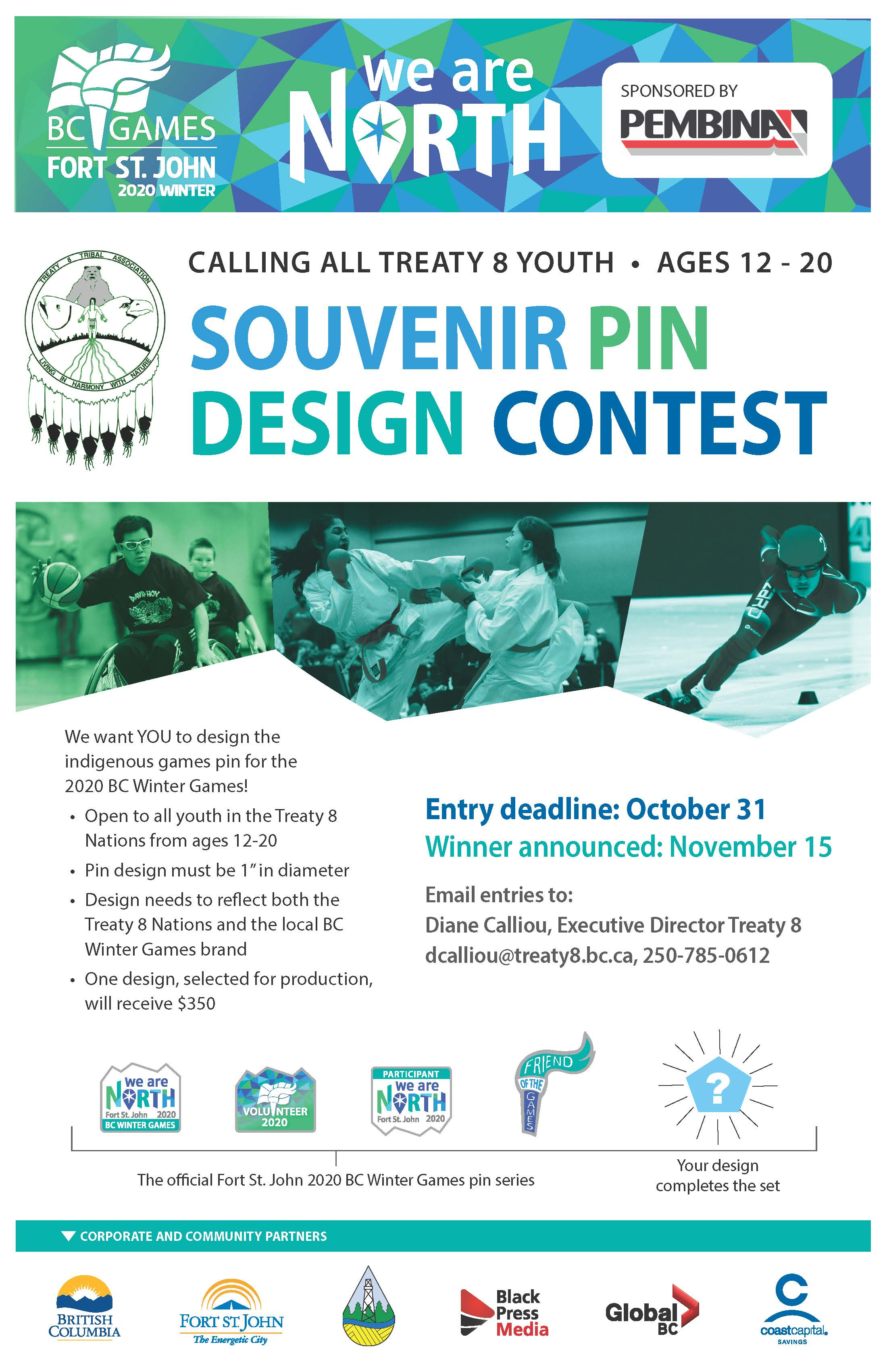 CALLING ALL TREATY 8 YOUTH - Souvenir Pin Design Contest