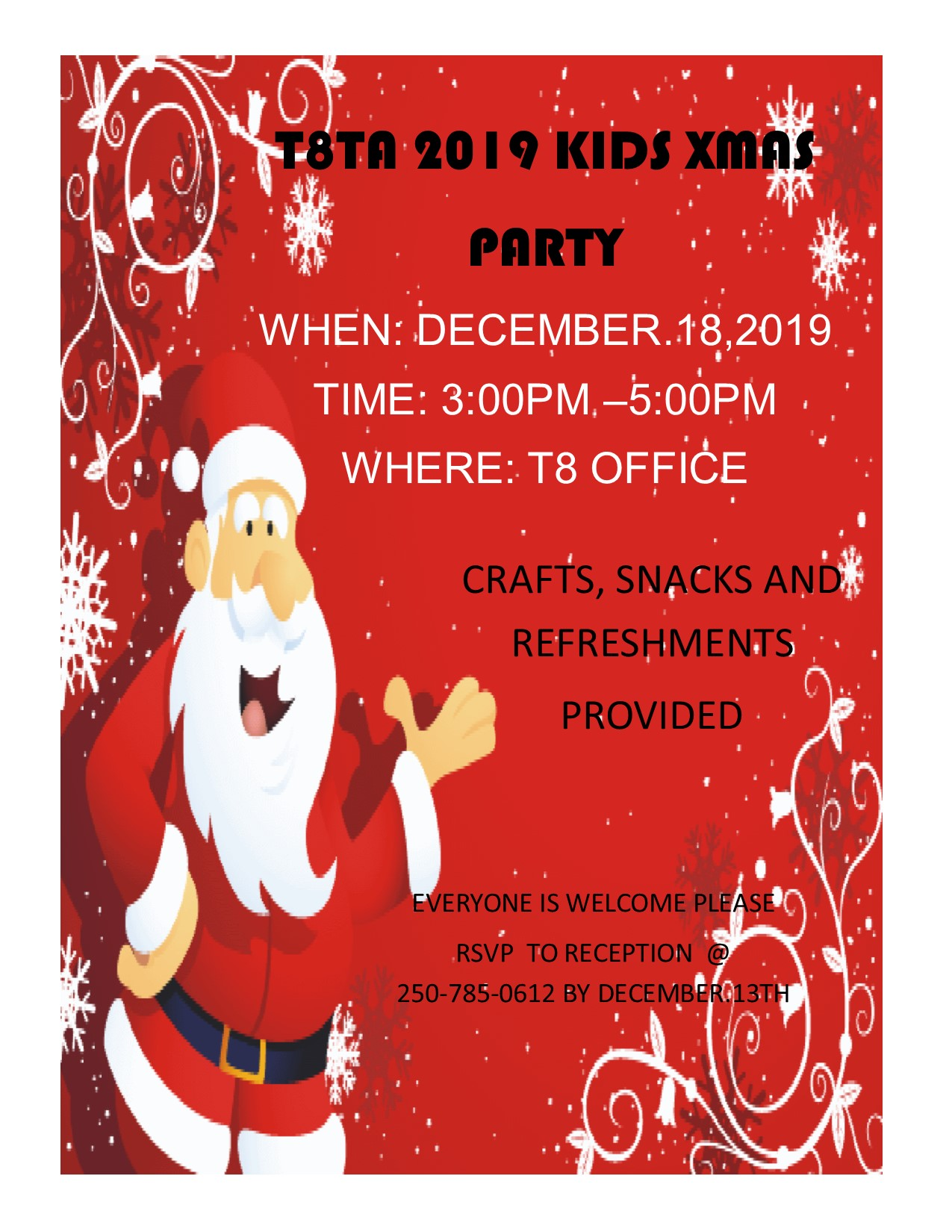 Kids Christmas Party @ Treaty 8 Tribal Association