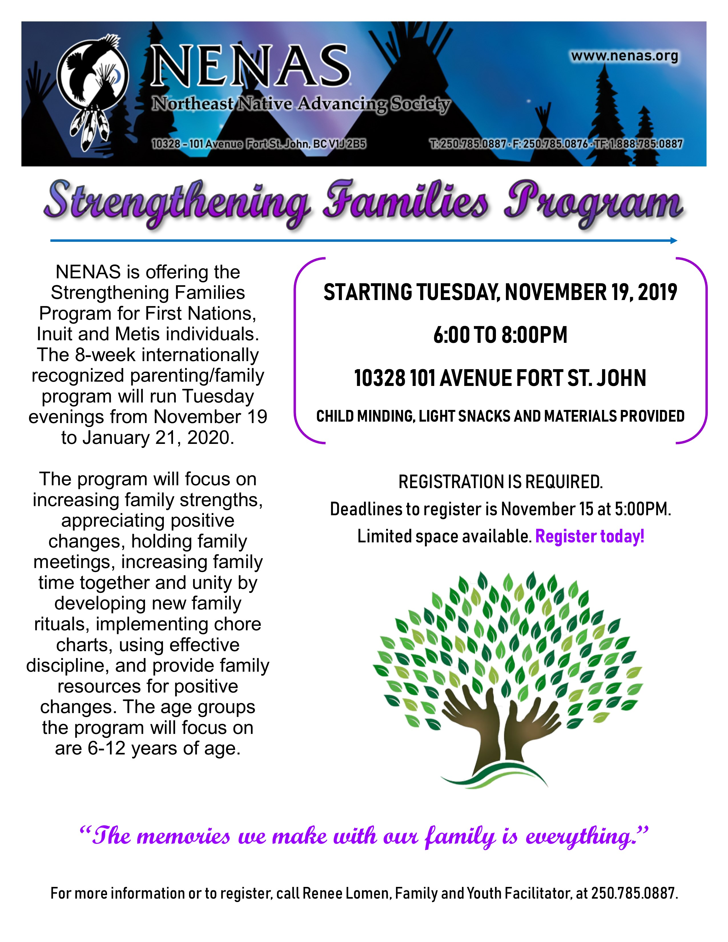 Strengthening Families Program @ Northeast Native Advancing Society