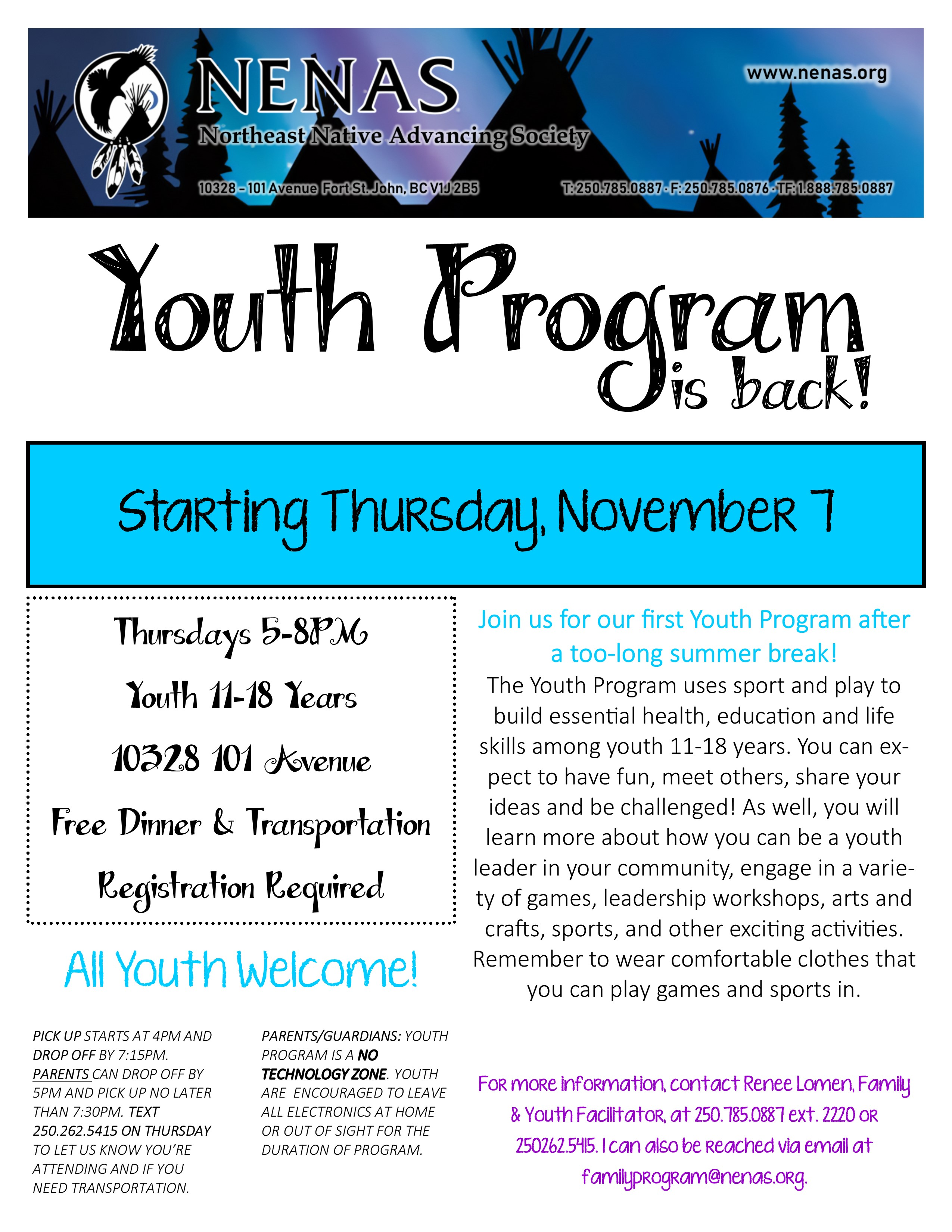 NENAS Youth Program @ Northeast Native Advancing Society