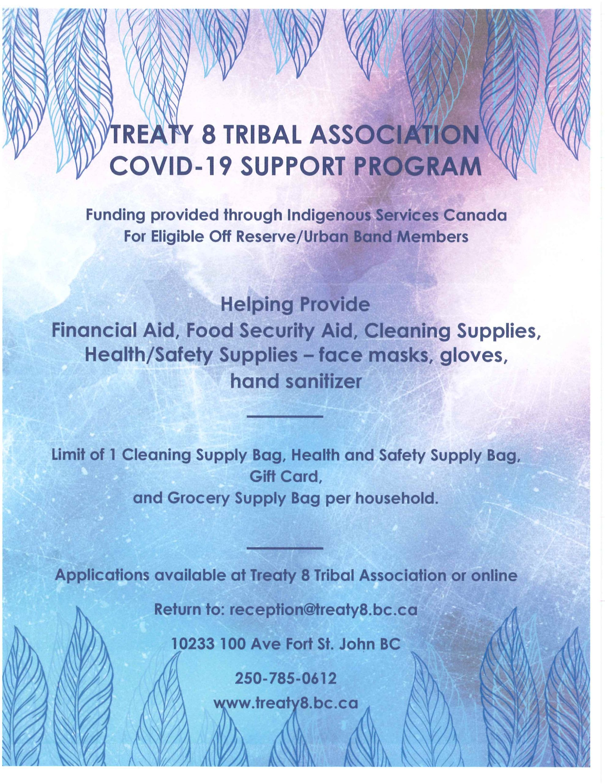 COVID-19 SUPPORT PROGRAM @ Treaty 8 Tribal Association